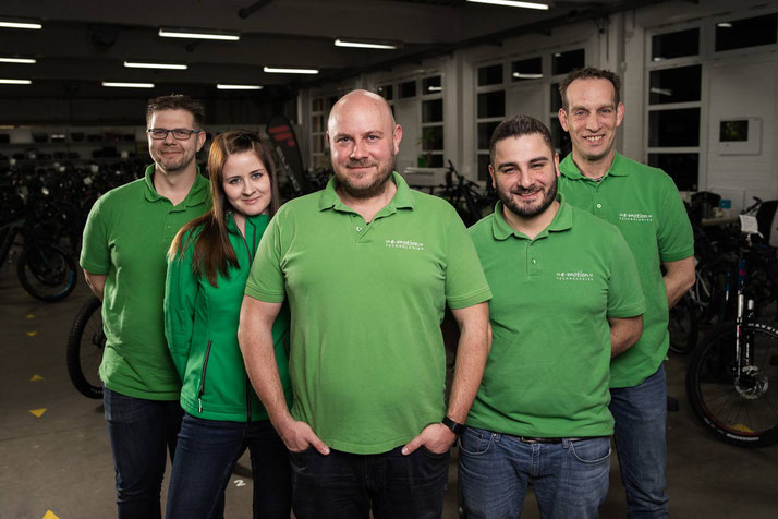 Das Team des e-motion e-Bike Premium Shops in Velbert
