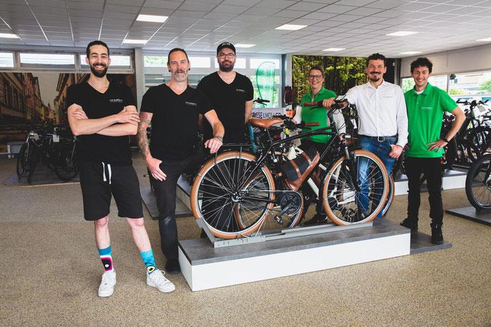 Ein Besuch im Shop in Heidelberg kann alle Fragen um das Thema Trekking e-Bike klären.