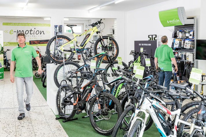 e-Mountainbike der e-motion e-Bike Welt Berlin-Steglitz