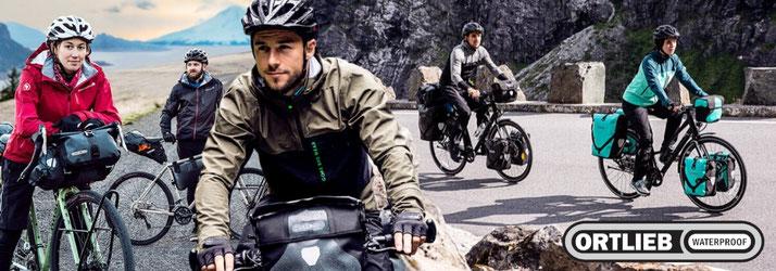Ortlieb wasserfester Fahrradtaschen und Rucksäcke für e-Bikes, Fahrräder und Pedelecs