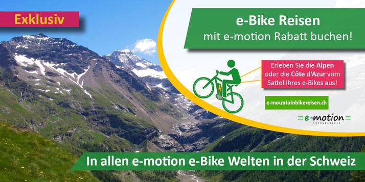e-Bike Reisen mit Ihrem e-motion e-Bike in die Alpen