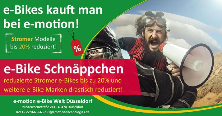 Stromer e-Bikes, Pedelecs und Speed-Pedelecs stark reduziert im e-motion e-Bike Welt Düsseldorf Wintersale