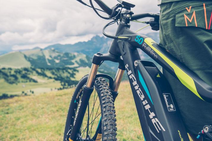 Im Shop in Hanau können Sie alle unterschiedlichen Ausführungen von e-Mountainbikes kennenlernen.