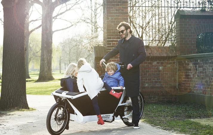 Urban Arrow e-Bikes in der e-motion e-Bike Welt in Frankfurt