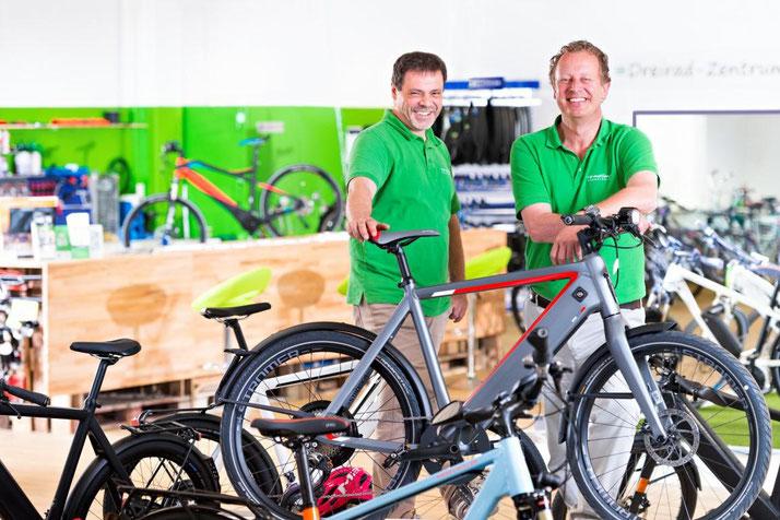 Im Shop in Bielefeld können Sie sich viele verschiedene City e-Bikes ansehen