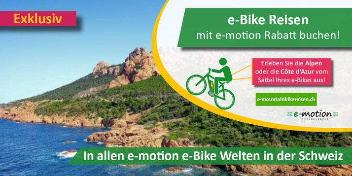 e-Bikes Reisen mit Ihrem Pedelec in der e-motion e-Bike Welt Hombrechtikon