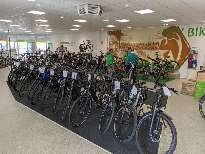 Trekking e-Bikes in der e-motion e-Bike Welt Bremen