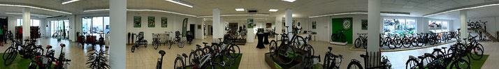 Panoramaansicht - Die e-motion e-Bike Welt Fuchstal