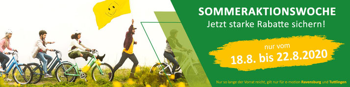 Sommeraktionswoche in der e-motion e-Bike Welt Ravensburg