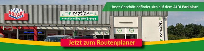 Anfahrt zur e-motion e-Bike Welt in Bremen