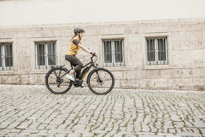 In Ahrensburg können Sie auch Trekking e-Bikes für eine geplante Tour mieten.
