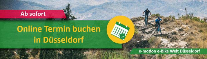Online Termin buchen in der e-motion e-Bike Welt Düsseldorf