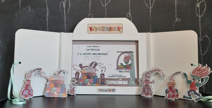 Kamishibai  Nonna  nonni  leggenda Albania libri racconti valigia vendita teatrino burattinoi caa comunicazione aumentativa e alternativa teatro delle ombre audiolibro cos'è