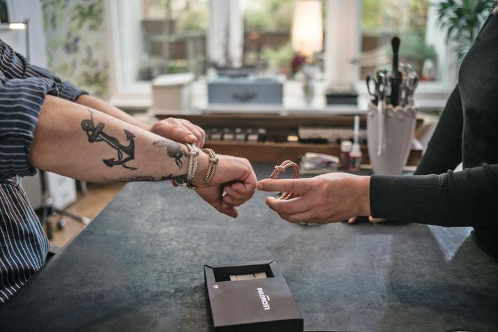 Armreif Tauoptik Silber Herren Armband Handarbeit Germany Tauwerk Seiloptik Damen