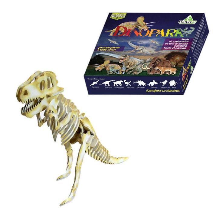 Rompecabezas 3d tyranosaurus rex de madera