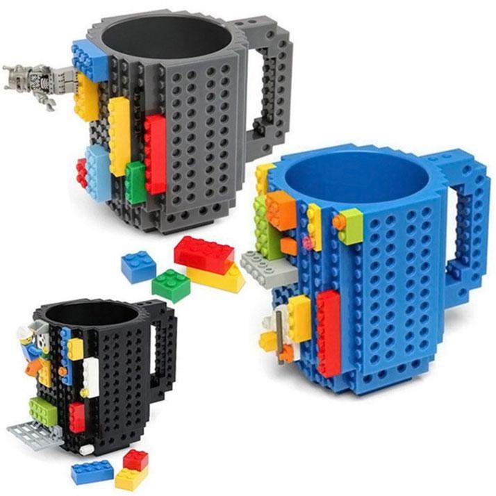 Taza Build-on con diseño de bloks ladrillos de construcción Lego