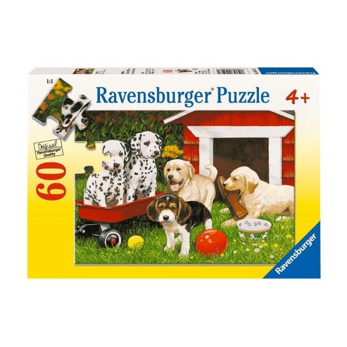 Rompecabezas 60 piezas fiesta de perritos