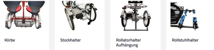 Van Raam Dreiräder und Elektro-Dreiräder Zubehör für Erwachsene in Österreich