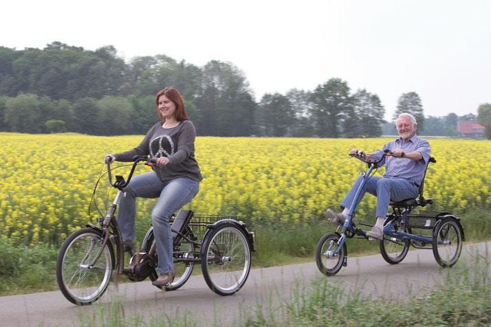 Pfiff Pfau-Tec Dreiräder und Elektro-Dreiräder für Erwachsene, Senioren, Kinder und Menschen mit Behinderungen