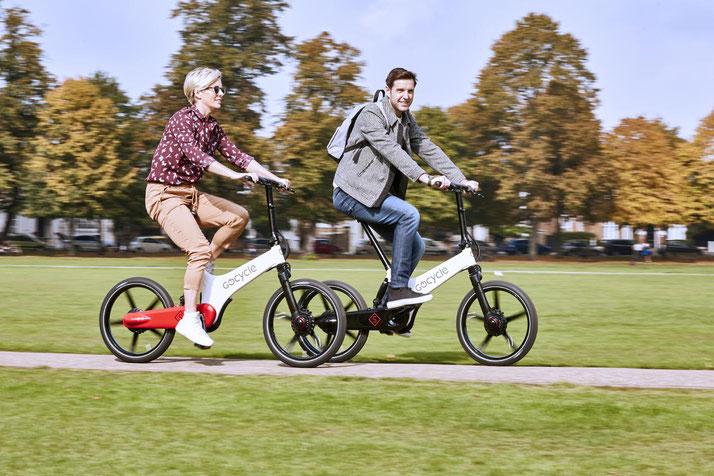 Gocycle e-Bikes in der e-motion e-Bike Welt in Wien