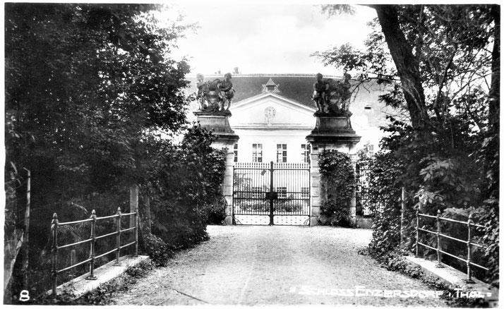 Ansichtskarte von Schloss Enzersdorf (vor dem teilweisen Abriss)