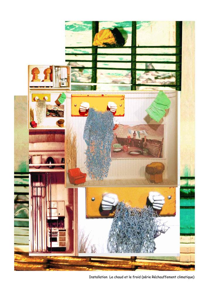 Installation Le chaud et le froid, série Réchauffement climatique, Ghana 2000.