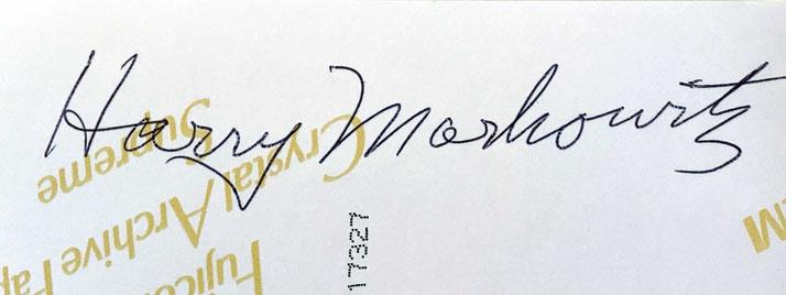 Autograph Harry Markowitz Autogramm