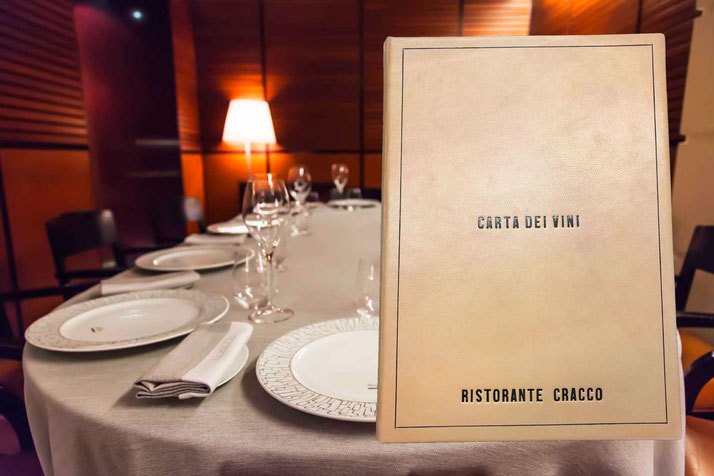Wine list Cracco restaurant by Conti Borbone