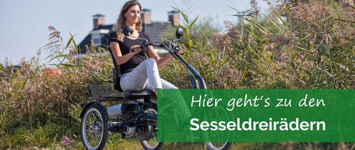 Sessel-Dreirad für Erwachsene