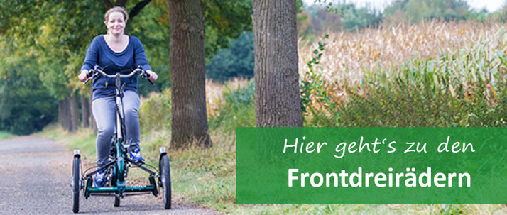 Front-Dreirad für Erwachsene
