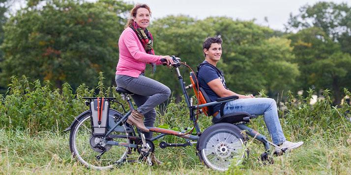 Van Raam O-Pair - Das einzigartige Rollstuhlfahrrad / Rollfiets