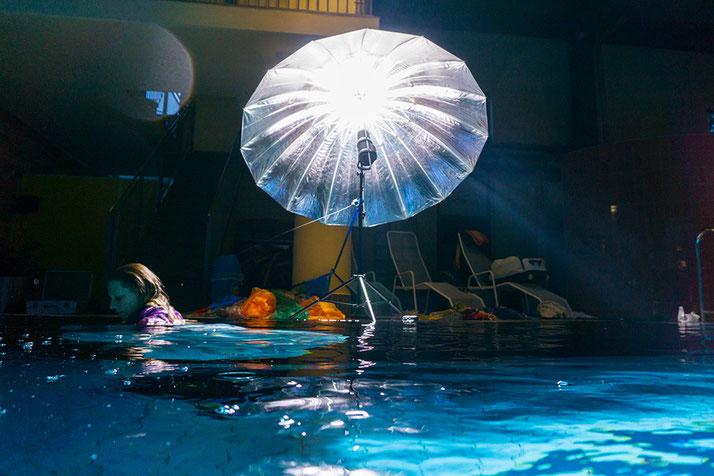 Behind the scenes - Überwasser Lichtsetup