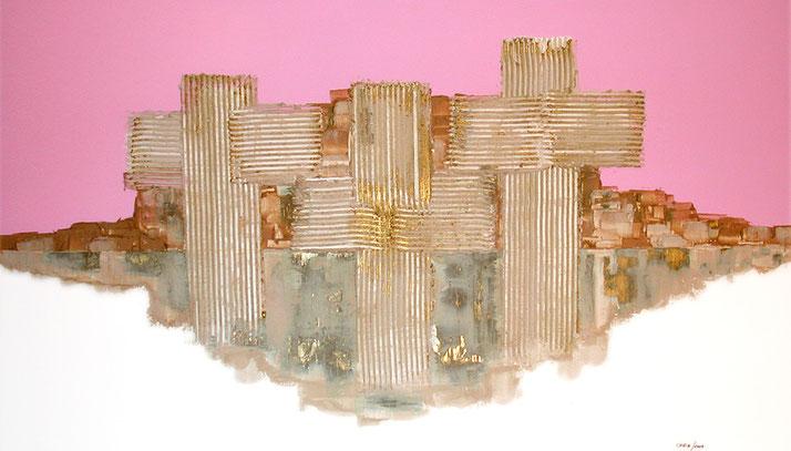 Kunst aus Nussdorf / Acryl und Material Sand