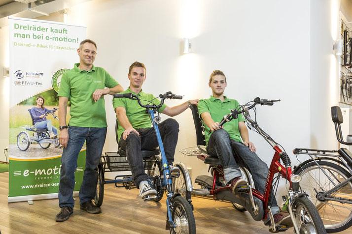 Das Team des Dreirad-Zentrums Braunschweig