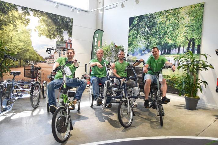 Dreiräder für Erwachsene kaufen und probefahren im Dreirad-Zentrum Hanau