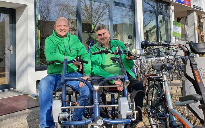 Das Team des Dreirad Zentrums in Berlin