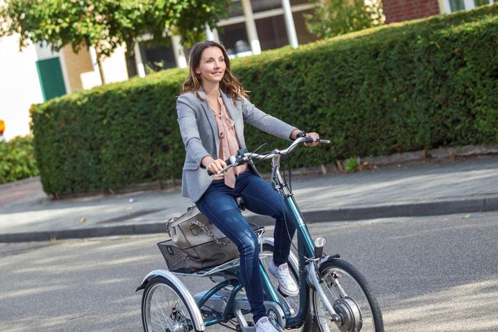 Van Raam Maxi Dreirad für Erwachsene zum einkaufen in der Stadt