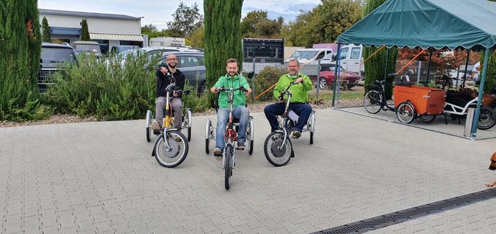 Das Team des Dreirad-Zentrums Freiburg Süd