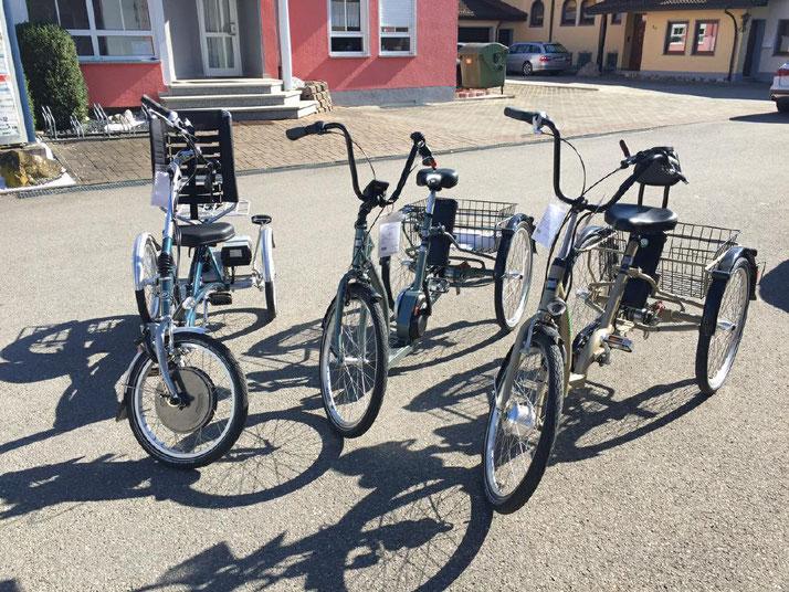 Dreiräder von Pfau-Tec im Dreirad-Zentrum Ravensburg