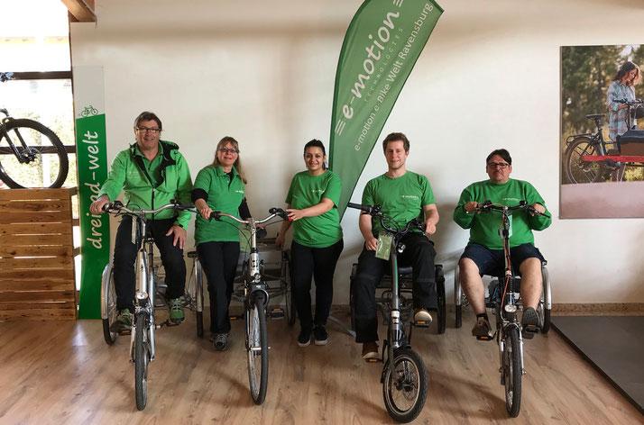 Das Team vom Dreirad-Zentrum Ravensburg