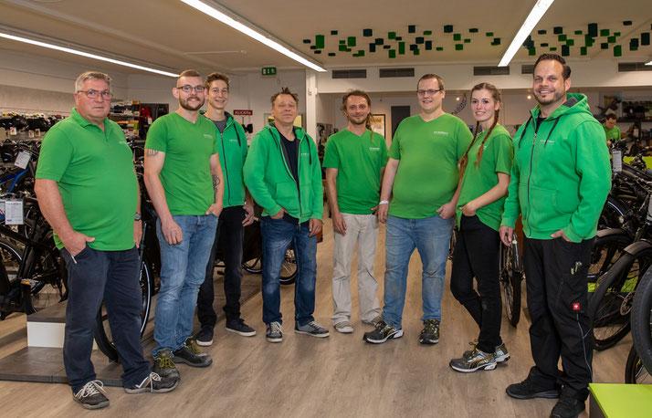 Das Team des Dreirad-Zentrums Münster
