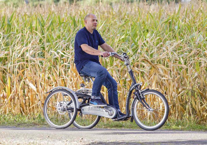 Van Raam Maxi Comfort Dreirad für Erwachsene zum einkaufen in der Stadt