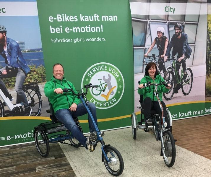 Ihre Dreirad- und Elektro-Dreirad im Dreirad-Zentrum Sankt-Wendel