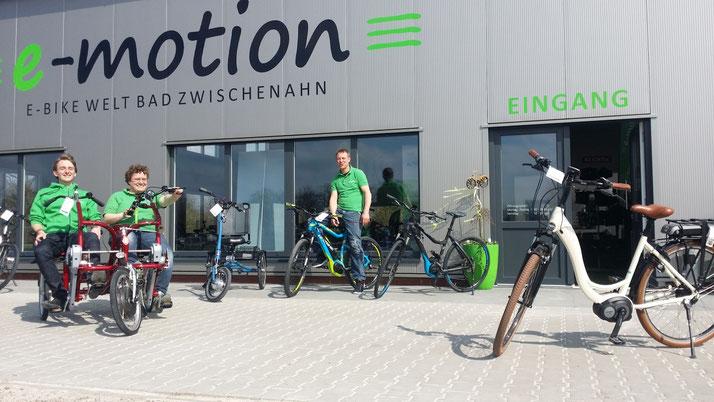 Team Dreirad Zentrum Bochum, Van Raam Dreirad Beratung, Probefahrt und kaufen
