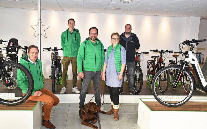 Das Team des Dreirad-Zentrums Nordheide