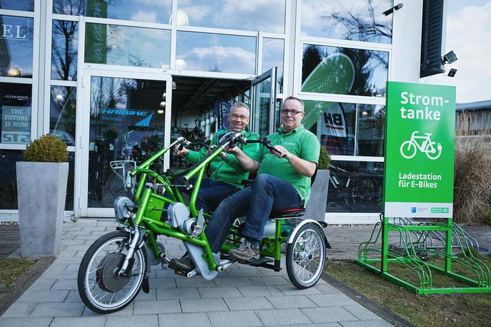 Das Team des Dreirad-Zentrums Düsseldorf