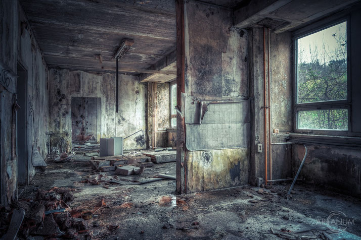 Abandoned decaying office building in Eastern Germany.
