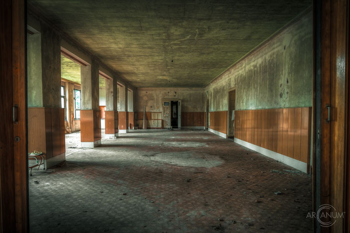 Abandoned Sanatorium in the Harz Mountains in Germany