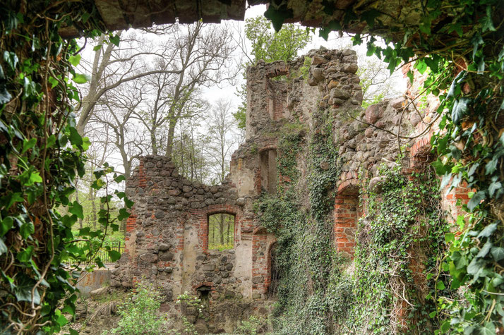 Abandoned old castle in Eastern Germany