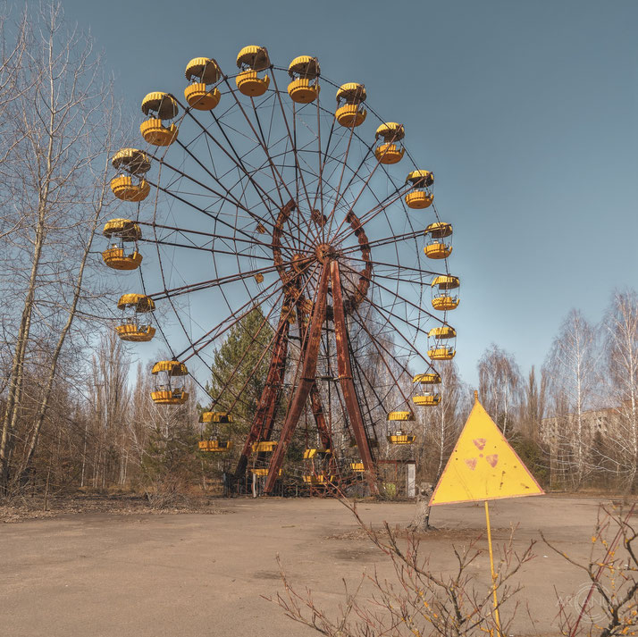 The iconic ferris wheel of Pripyat